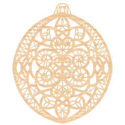 tree lace cream merry openwork pendant asterisk doily beige happy holidays ornament decoration baubles bauble christmas