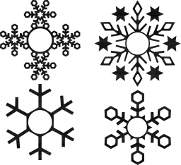 snow symbol frozen winter xmas snowflakes decoration snowfall holiday crystal flake design christmas