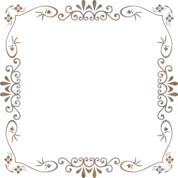 flourish ornamental vintage style decorative floral border geometric flower abstract frame design art