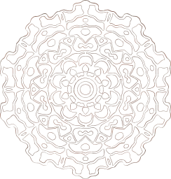 graphics background style asian ornament round forms tribal figure decorative drawn east circle religion art motive meditation up stand-alone indian hand ethnic element relaxation retro frame creativity mystical freehand grown abstract original mandala design