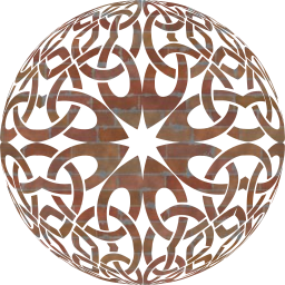 round ornamental orb decorative sphere geometric celtic 3d abstract circle knot design art