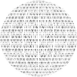 0 internet orb computers 1 art digital sphere 3d round abstract binary networking communication