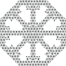 ornamental decorative geometric celtic abstract knot art