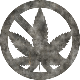 marijuana no caution forbidden restriction drug prohibited warning sign allowed cannabis pot stop danger hazard plant symbol hemp illegal leaf not