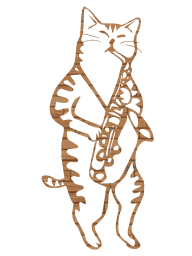 jazz cat saxophone instruments music musical