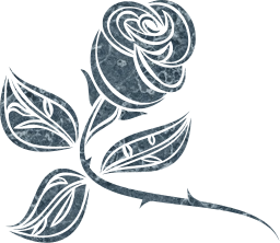 valentine's thorns plant rosa stem stylised stylized leaves leaf single flower rose valentines foliage
