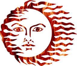 face anthropomorphic star hot sun solar light