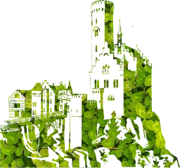 deco castle stylized nature royal architecture knight building king art queen fairytale hill towers house european fantasy fort mountain germany