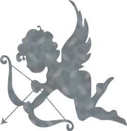 bow valentine angel cherub arrow cartoon love cupid chubby heart romance wings