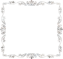 flourish ornamental vintage style decorative floral border geometric flower abstract frame art