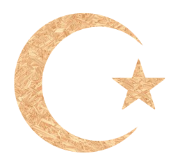 metallic moon crescent golden symbol sign star glossy religion geometric islam abstract chromatic art shiny