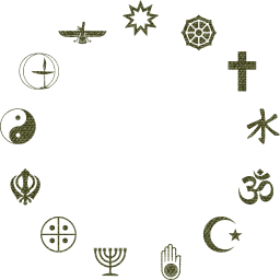 metallic spirituality taoism star christian wheel dharma peace faith buddhism golden prayer worship hinduism symbols religion islam belief chalice shiny crescent religious meditation ethics yin yang om judaism native cross