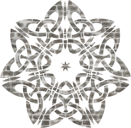 ornamental star decorative line geometric celtic abstract knot design art