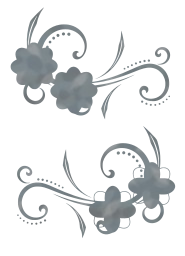pearls ornamental craft scrapbook floral embellishment curl elegance elegant filigree bloom decorative decoration elements pretty glass scroll leaf blossom silk swirl flower design