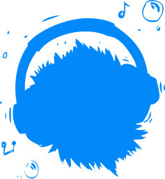 headset face fluffy smile adorable ball cartoon listen cute fun tongue emoticon emotion teeth character one eye headphones expression music little happy fur monster notes