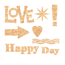 arrow signs text love happy day words heart scrap elements
