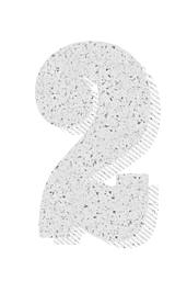 typographic numbers shadow drop education 2 two type typography