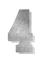 typographic four numbers shadow drop education 4 type typography