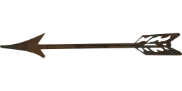 bow weapon arrow old feathers