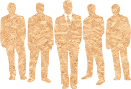 people business businessmen group orange leader suits silhouettes men
