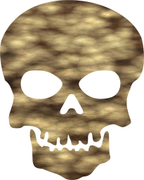 death skull warning