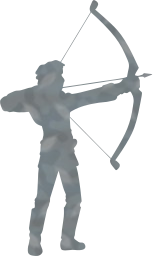 bow person aim arrow archer man shoot