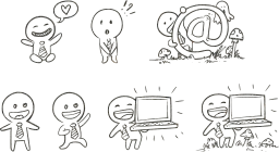 emotions kid show draw sketch fight at tie characters love drawing outline happy laptop pencil design mushrooms