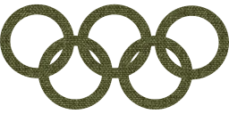 olympics celebration fan symbol olympic games brazilian player sport 2016 summer competition circle round design brazil champion