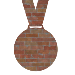 Brick Wall 014 Metallic Win Cut Victory Free Images Icons