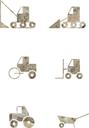 site work tractor bulldozer pictogram vehicles trolley