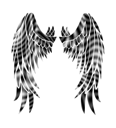 angel wings religion 3d