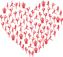 stretching people health svg person girl valentine pose woman exercise love female passion yoga heart romance human