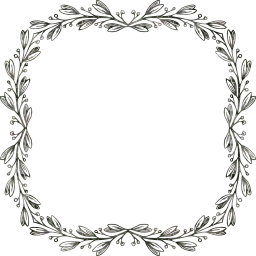 svg ornamental decorative floral leaves leaf geometric border abstract frame art