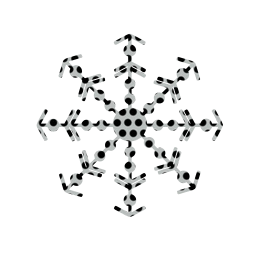 snowflake bow snow air frost cold snowfall ice