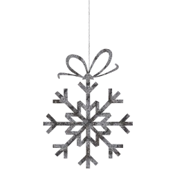 snowflake bow snow ornaments decorations frost decoration cold ice christmas