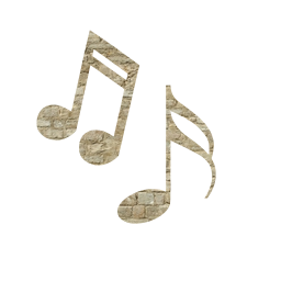 sound classical element music style decorative floral key artistic decoration rose design notes musical