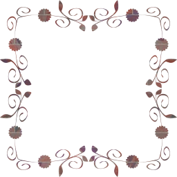 svg flourish floral border flower abstract frame art