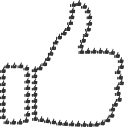 svg agree internet social approve facebook symbol like gesture encourage thumbs up media fractal hand condone art