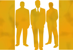 boss corporate business work team manager businessmen group posing leader confident professional silhouettes entrepreneur men