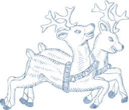 deer celebration claus x-mas winter december santa animals reindeer christmas flying