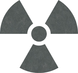 radiation warning symbol atomic signs nuke radioactive radioactivity danger hazard nuclear