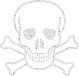 death warning symbol sign skull danger crossbones