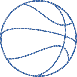 sport outline round basketball