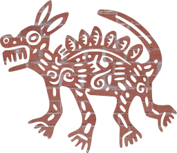 coyote art painting ancient mexican
