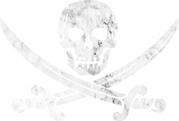 crossed out coat arms keep pirates skull swords danger