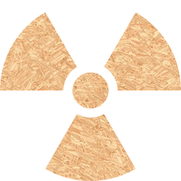 radiation warning symbol atomic orange radioactive power danger energy nuclear