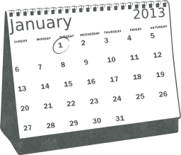 month office date organizer calendar desk january 1st