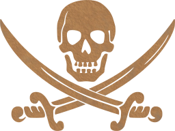 crossed symbol pirate pirates skull swords