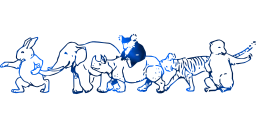 bears wild walking friends mammals together moving rabbit tiger wildlife friendly pig elephant animals hippopotamus