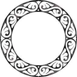 ornamental decorative embellishment border circle decoration round ornament frame design